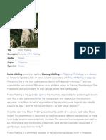 Maria Makiling - Wikipedia, The Free Encyclopedia