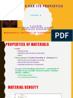 Materials and Its Properties