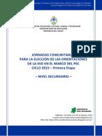 1° DOCUMENTO ELECCIÓN DE ORIENTACIONES 2015