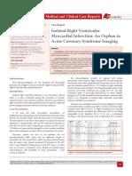 Isolated Right Ventricular Myocardial Infarction