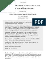 Air Line Pilots Ass'n, International v. Civil Aeronautics Board, 215 F.2d 122, 2d Cir. (1954)