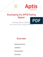 Developing the APTIS Testing System