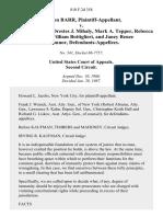 Sheldon Barr v. Robert Abrams, Orestes J. Mihaly, Mark A. Tepper, Rebecca Mullane, William Bottiglieri, and Janey Renee O'COnnOr, 810 F.2d 358, 2d Cir. (1987)