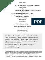 The Integral Insurance Company v. Lawrence Fulbright Trucking, Inc. Charles S. Klutz A.L.C. Transportation, Inc. Valley Transportation of Vale, Inc. Kathleen McGoldrick Patricia McGoldrick Defendants, 930 F.2d 258, 2d Cir. (1991)