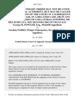 George H. Fowler, Esq. v. Gordon Parks, Winger Enterprises, Inc., 107 F.3d 2, 2d Cir. (1997)
