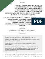 "United States v. Julio Fernandez, Also Known as Outlaw, Mark Abene, Also Known as Phiber Optik, Elias Ladopoulos, Also Known as Acid Phreak, Paul Stira, Also Known as Scorpion, John Lee, Also Known as ""John Farrington,"", 107 F.3d 4, 2d Cir. (1997)"