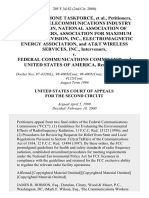 Cellular Phone Taskforce, Cellular Telecommunications Industry Association, National Association of Broadcasters, Association for Maximum Service Television, Inc., Electromagnetic Energy Association, and At&t Wireless Services, Inc., Intervenors v. Federal Communications Commission and United States of America, 205 F.3d 82, 2d Cir. (2000)