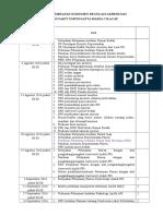 Jadwal Pembuatan Regulasi Dokumen Akreditasi (Yg Iniiih)