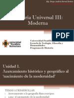 Cronograma de Sesiones y Exposiciones Historia Universal III