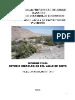 Hidrologia Valle de Cinto 21-05-11