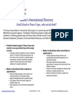 Peace Corps Current Programs Master's International pp. 39