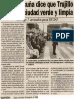 Satélite 13-08-08 Alcalde Acuña dice que Trujillo será una ciudad verde y limpia