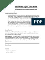 Bayville Football League Rule Book