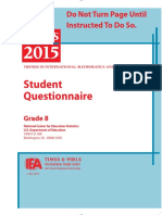 2015 8th Grade Student Questionnaire