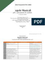 Fedele Fenaroli Regole Musicali