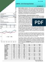 Cipla Ltd Q2'13 Earning Estimate
