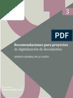 Recomendaciones Para Proyectos de Digitalizacion de Documentos