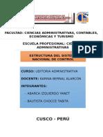 Estructura Del Sistema Naional de Control