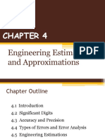 CHAPTER 4 (Engineering Estimation & Approximation)