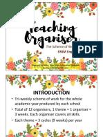 KSSM English Form 1 Teaching Organiser Overview & Guidelines