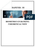 Project on biometrics security in banking