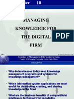 Chapter10 Managing Knowledge