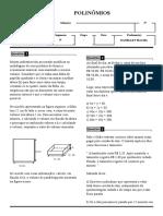 Td Polinomios - 2º Etapa - 8º Ano - Álgebra