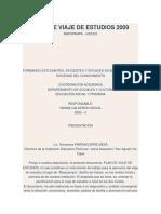PLAN DE VIAJE DE ESTUDIOS 2009.docx