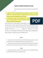 Surat Perjanjian Jual Beli Rumah Dan Tanah