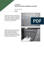 Kia Carnival Boletín de Servicio Técnico 2 Desmontaje de La Puerta