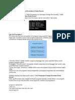 Cara Penerapan Fungsi Procedure Pada Pascal