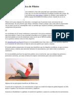 Ventajasde la practica de Pilates