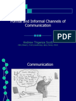 Formal & Informal Channel of Communication