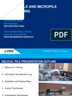 5. Helical Pile and Micropile Load Testing