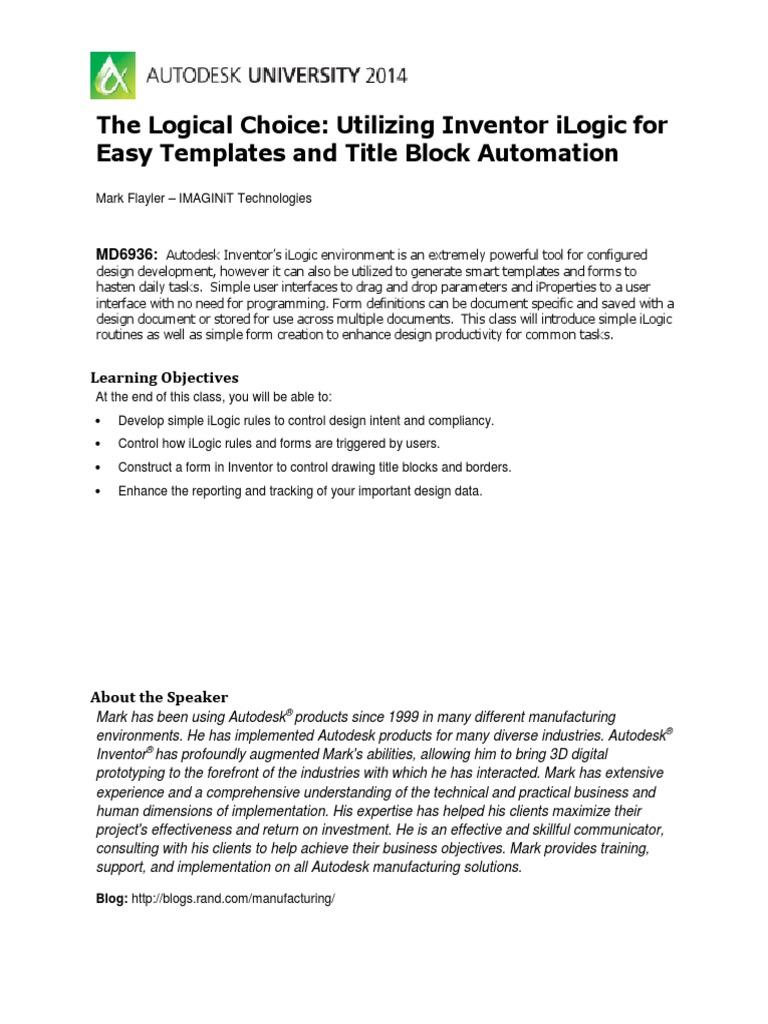 The Logical Choice   Automation   Tab (Gui)