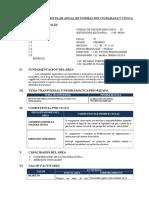 Programacion Anual Civica 1º