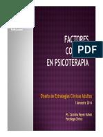 Factores Comunes de La Psicoterapia