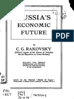 Rakovsky, Russia's Economic Future