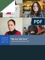 Historias de Mujeres Violentadas en Siria y Fuera de Ella