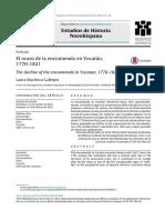Machuca Gallegos, L., El Ocaso de La Encomienda en Yucatán