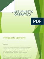 presupuesto operativo 2