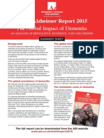 World Alzheimer Report 2015 Summary Sheet