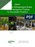 Hydrogeological Studies Guideline DRAFT - October 3 2012