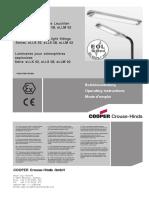 Cooper Ceag Datasheet Linear Fluorescent Luminaire Ellk Cg s 1
