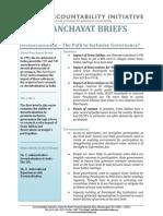 Panchayat Briefs Vol 1, No 1