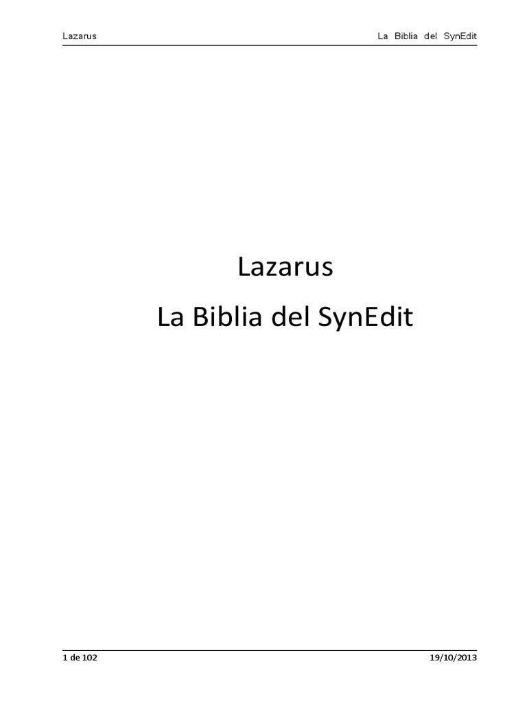 La Biblia Del Synedit - Rev3