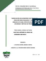 Verificacion de Elevadores Electricos