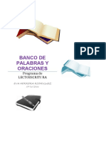 Banco de Palabras y Oraciones Por Letras Editable 1
