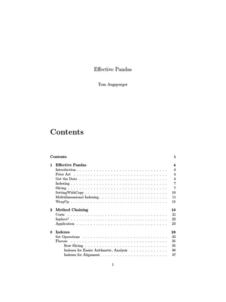 Effective Pandas | Zip (File Format) | Software Engineering