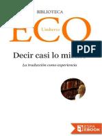 Umberto Eco-Decir casi lo mismo.epub